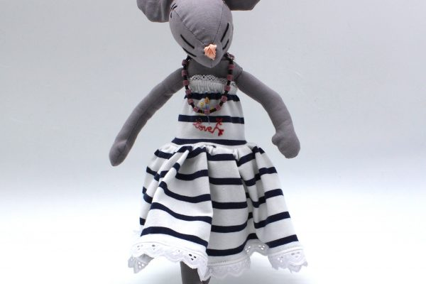 Minimoustachette robe rayée 1