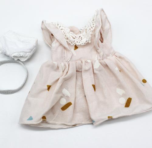 grainedaby MiniMoustachette dressing robe col dentelle