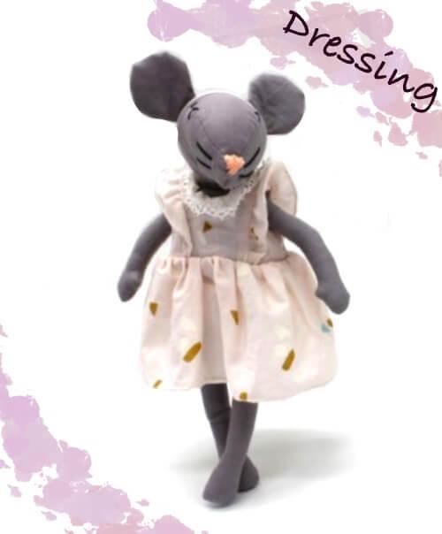 grainedaby MiniMoustachette poupée doudou fait main