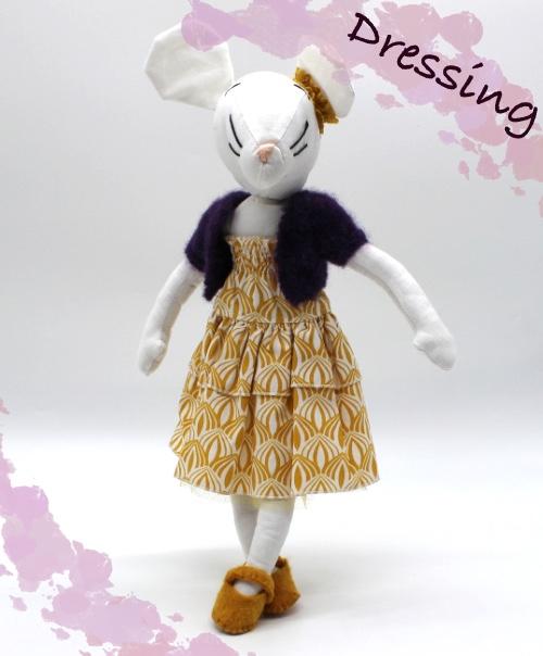 grainedaby moustachette dressing tenue robe bustier gilet tricoté main chaussures